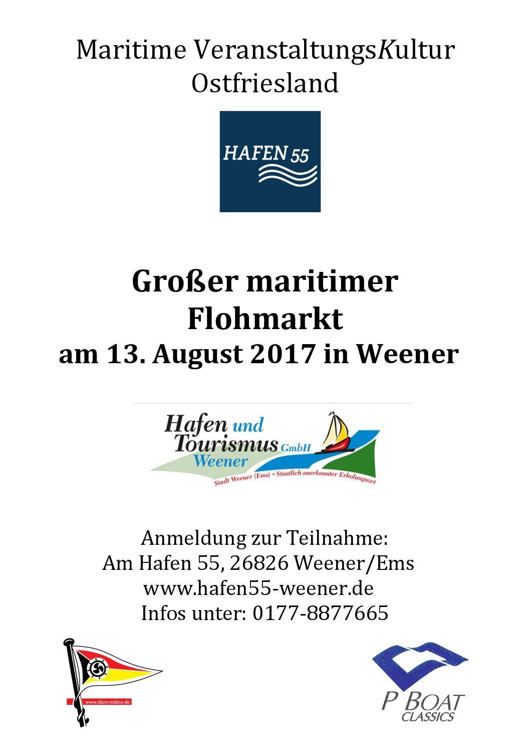 Traditionsschiffstreffen und maritimer Flohmarkt als Abschlussveranstaltung