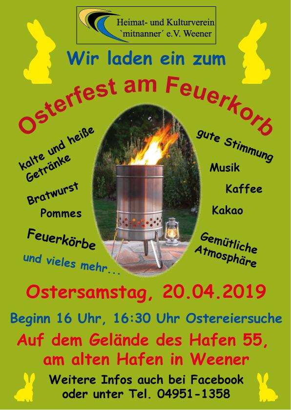 HuK Osterfeier am Feuerkorb