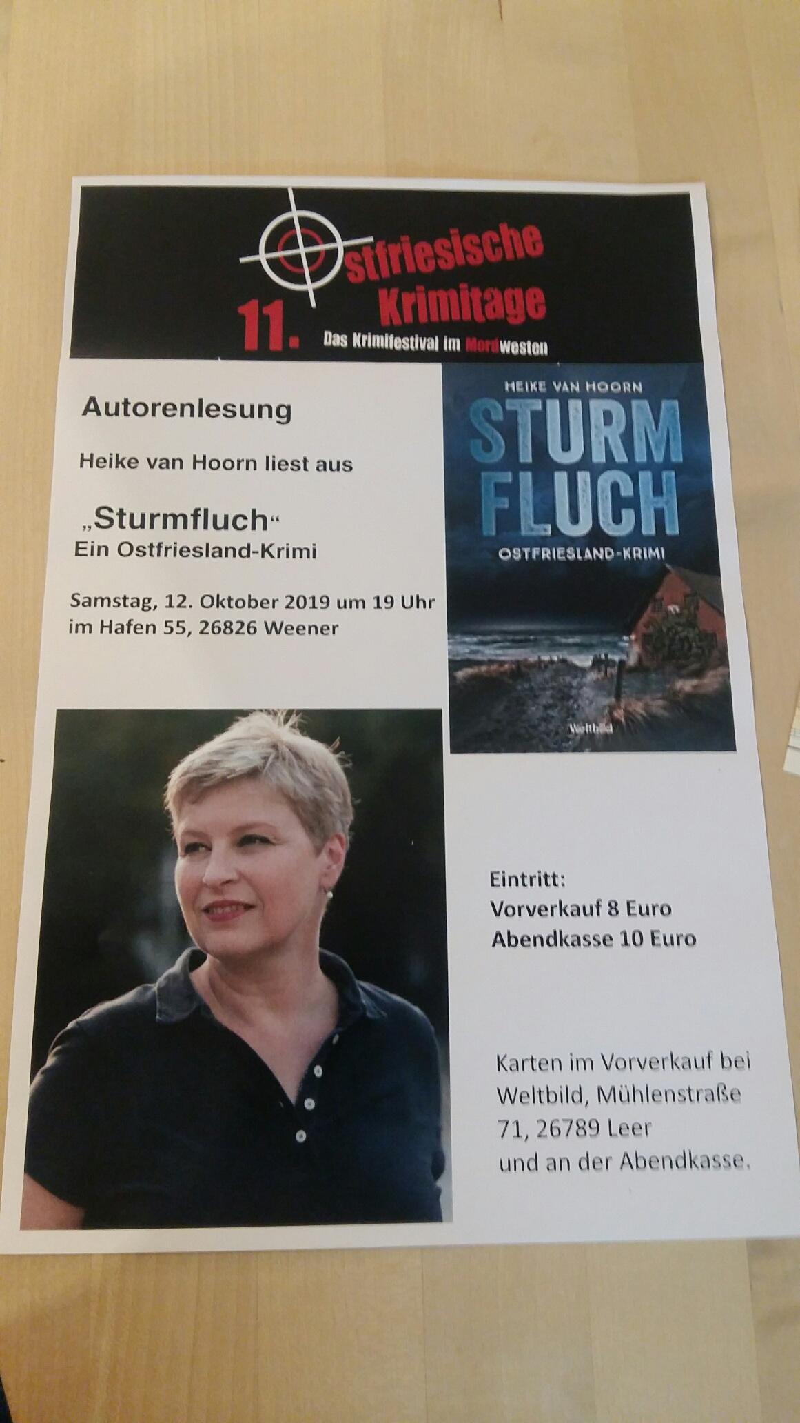 "Autorenlesung Autorenlesung ""Sturmfluch"" Heike van Hoorn"